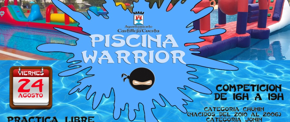 cartel 1 piscina warrior