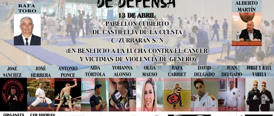 cartel exhibición técnicas de defensa